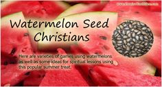 Watermelons are almost synonymous with summer - cool, refreshing, and great on a hot summer day. Watermelons can also be used for a variety of fun, and sometimes messy games, though the cost could be a bit prohibitive for some youth groups. Here are varieties of games using watermelons as well as some ideas for spiritual lessons using this popular summer treat.