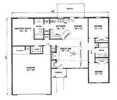 bungalow house plans 3 bedrooms - Google Search