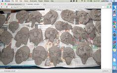 clay viking faces