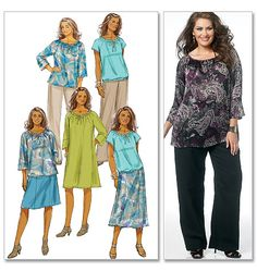 Plus Size Patterns For Women | ... Women's Top, Dress, Skirt and Pants | Plus Size | Butterick Patterns