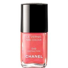 Chanel Le Vernis Nail Colour in 549 Distraction. Love any coral nail polish! New Nail Colors, Spring Nail Colors, Nail Polish Colors, Spring Nails, Nail Colour, Summer Colors, Pink Polish, Nail Polishes, Summer Nails