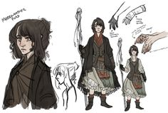 """the-orator: """" Some concept sketches for my current D&D character, Merriweather Foss. She's a lvl 5 Warlock (its gonna be a short campaign cause our DM is moving, so we're starting at a higher level) I'm trying to design her patron too, but. Character Creation, Fantasy Character Design, Character Drawing, Character Design Inspiration, Character Concept, Concept Art, Dungeons And Dragons Characters, D D Characters, Fantasy Characters"""