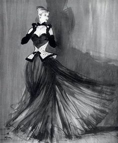 Carven evening gown, 1947