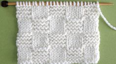 How to Knit the Garter Checkerboard Stitch Pattern