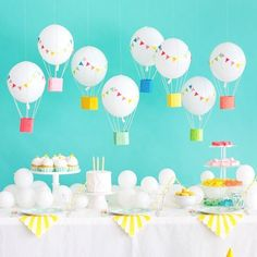 Birthday party themes, birthday balloons, baby birthday, first birthday par First Birthday Parties, Birthday Party Themes, First Birthdays, Baby Birthday, Theme Bapteme, Deco Ballon, Baby Shower, Birthday Balloons, Balloon Party
