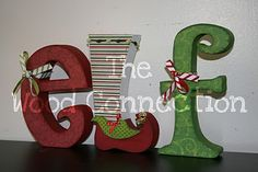 Block letters for Christmas