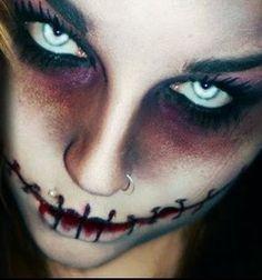 Nuevamente os traemos un Maquillaje de Terror para Halloween que da bastante miedito, se trata de un maquillaje de caracterización con la boca cosida
