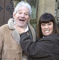 Having the last laugh: Trevor in his final TV appearance in 2015 with Dawn French in a Vicar Of Dibley sketch for Comic Relief Bbc Tv Shows, Comedy Tv Shows, Comedy Films, British Tv Comedies, British Comedy, British Actors, English Comedy, Vicar Of Dibley, Dawn French