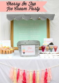 """Scoops of Fun"" Ice Cream Party   {One Charming Party}"