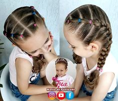 Best Picture For toddler hairstyles girl easy For Your Taste You are looking for something, and it i Toddler Hair Dos, Cute Toddler Hairstyles, Lil Girl Hairstyles, Girls Hairdos, Kids Braided Hairstyles, Hairstyles For Toddlers, Wedding Hairstyles, Girls Braids, Braided Updo