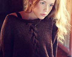 KNITTING PATTERN - Summer Night Sweater - Instant Digital Download - PDF Pattern - Oversized - Drop Sleeve