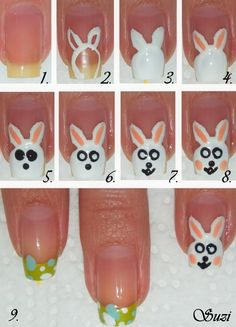 Easter Bunny Nail Tutorial