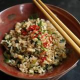 Brown Rice, Lentil, and Spinach Soup Recipe | SAVEUR