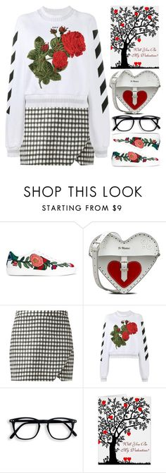 """""""Valentine"""" by grozdana-v ❤ liked on Polyvore featuring Gucci, Dr. Martens and Off-White"""