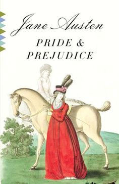 Happy 200th birthday to Jane Austen's Pride and Prejudice! What would the world be without Elizabeth and Darcy? Vintage Classic cover design by Megan Wilson via The Atlantic Wire.