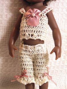 "Camisole & Pantalette Set for Kish 7.5"" Riley or 6-8"" Bisque Mignonette Doll"