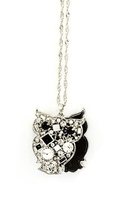 Layered Crystal Owl Necklace ♥ This store has the cutest Owl Jewelry Ever!!! Love it!