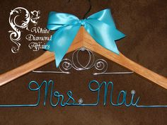 Cinderella Fairytale Wedding Dress Hanger by WhiteDiamondAffairs, $29.95