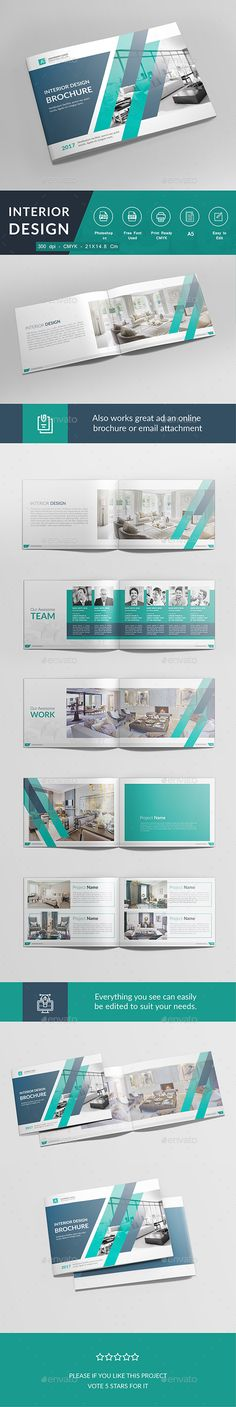 Interior Brochure Design Template PSD