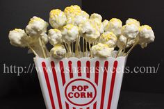 popcorn shaped cake pops!!!