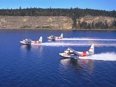 Grumman Albatross - three in formation for the Canadian Air force.  I believe that they are still in operation today.