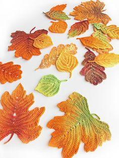 Add to cart Crochet Leaf Patterns, Crochet Leaves, Crochet Fall, Cute Crochet, Irish Crochet, Crochet Flowers, Freeform Crochet, Thread Crochet, Crochet Motif