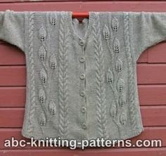 Leaves Jacket Free pattern   Go to; http://pinterest.com/DUTCHYLADY/share-the-best-free-patterns-to-knit/ for 2000 and more FREE knit patterns