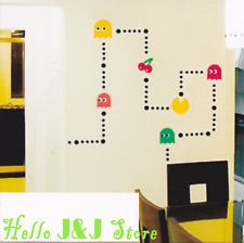 Pacman Game Mural Art Wall Stickers Vinyl Decal Home Kids' Room Decor DIY NEW