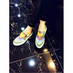 Valentino Women Rainbow Design and Rivets Casual 35-39 Shoes valen2015050502
