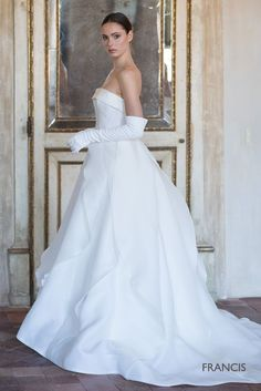 The richness and sophistication of Italian culture are inspirations for this Bridal 2019 collection. Fantasy Wedding Dresses, Bridal Wedding Dresses, Bridal Style, Perfect Wedding Dress, One Shoulder Wedding Dress, Bridal Collection, Dress Collection, Wedding Dreams, Dream Wedding