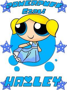Personalized Custom NAME T-shirt Powerpuff Girls Bubbles