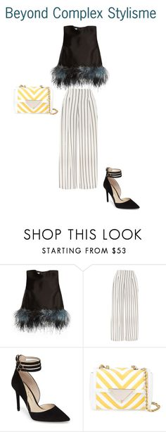 Beetlejuice's wife by beyondcomplexstylisme on Polyvore featuring Prada, Topshop, Jessica Simpson and Sara Battaglia