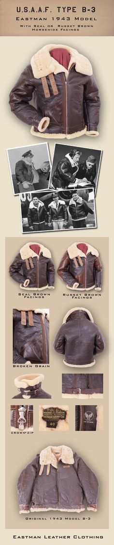 Eastman Leather Clothing - US Flight Jackets : USAAF Eastman Sheepskin Jackets : Elcb3