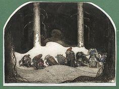 """JOHN BAUER 1882-1918, """"I julnatten"""""""
