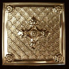 Vintage Volupte Compact Goldtone Repousse Ornate Cross Design via Etsy