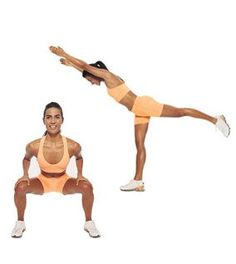 Brazil Butt Lift Exercise...   Squat Arabesque    To make your butt higher…       Stand with feet shoulder-width apart. Squat and hold for one count, as shown; as you stand up, raise arms and lift left leg straight behind you, as shown. Return to start; switch sides. Do 15 reps on each side.