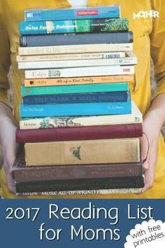 2017 Reading List for Moms. Printable Notes with a Reading Guide Mothers Want to Read full of Parenting Books that Are Bestsellers.