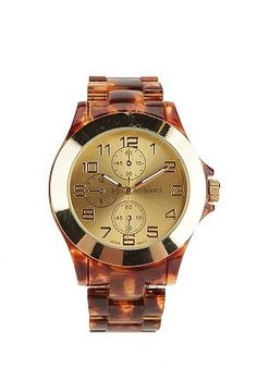 i'm in love with tortoise shell watches