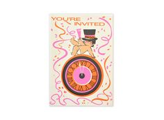 Vintage New Year's Party Invitations Set of 8 by GubbaGumma