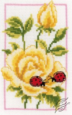 Yellow Roses - Cross Stitch Kits by VERVACO - PN-0146887