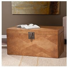 Target Storage Trunk Fascinating Threshold® Wicker Large Storage Trunk  Dark Global Brown