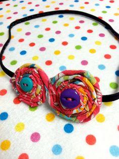 button fabric headband