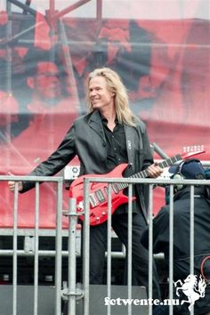 "Adrian Vandenberg at FC Twente, performing his song ""A number one"" he wrote for them"