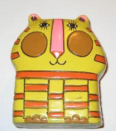 Vintage paper mache cat vase pencil holder by sweetalicelovesyou SOLD!