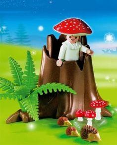 Red And White Mushroom, Playmobil Sets, Love Fairy, Tree Stump, Childhood Memories, Baby Animals, Little Girls, Stuffed Mushrooms, Christmas Ornaments