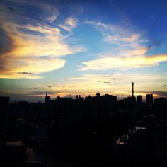 Beautiful sunset @hanzomon