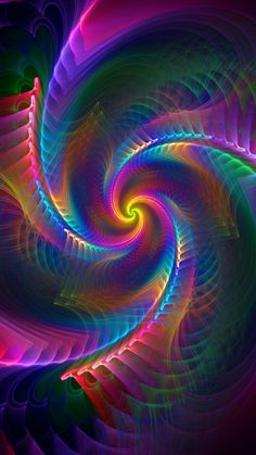 Pretty Phone Wallpaper, I Wallpaper, Colorful Wallpaper, World Of Color, Color Of Life, Fractal Art, Fractals, Trippy Pictures, Cute Chihuahua