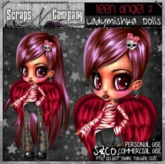 """""""TEEN ANGEL2 CU"""" by LadyMishka http://scrapsncompany.com/index.php?main_page=product_info&cPath=161&products_id=8906"""