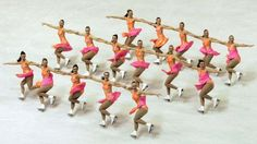 """Former Olympic gold medalist Sarah Hughes called synchronized skating """"the future of skating"""" when asked"""