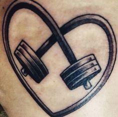 Barbell tattoo #TattooIdeasStrength